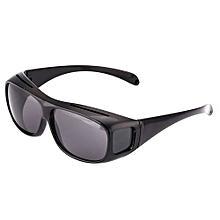 HD Night Vision Driving Glasses - Black..