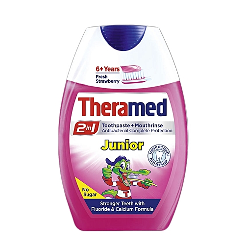 2 in 1 Junior Toothpaste + Mouthrinse 6 + Years - 75ml