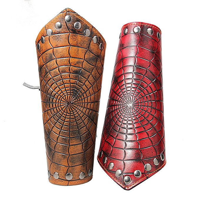 The Current Rockn Roll Punk Decoration Spiders Net Leather