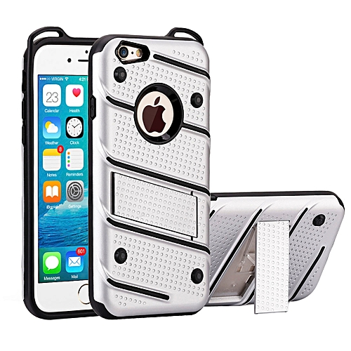 big sale af69a 6ec22 For iPhone 6 and 6s Charm Knight Detachable PC + TPU Combination Protective  Case with Holder (Silver)