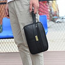 Men Casual Solid Multifunction Handbag Casual Tote Zipper Bag Purse Card Bag