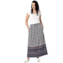 White and Navy Blue Fashionable Skirt
