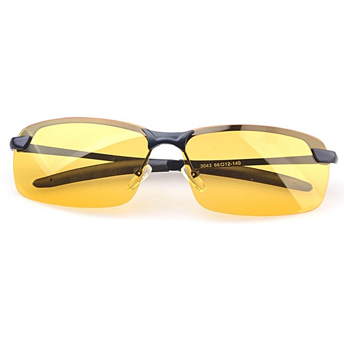 c289090d362 Anti-Glare TAC Men Driving Yellow Lens Sunglasses Night Vision Polarized  Glasses  Black