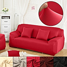 1 2 3 L Shape Stretch Elastic Fabric Sofa Cover Sectional Corner Couch Slipcover Red