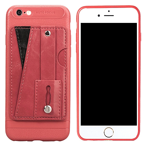 quality design 5eb43 99d28 iPhone 6S Plus Case,Slim Durable Sleek Leather Wallet Back Cover with  Credit Card Slots Kickstand and Wrist Strap Shockproof Stand Phone Case for  ...