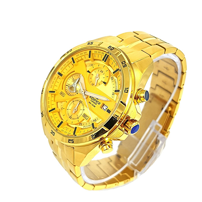 CASIO EDIFICE White Dial With Gold Straps Watch   Best Price  8802ff470969