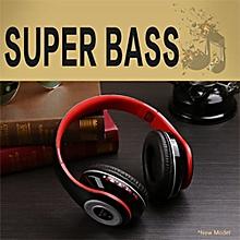 Bluetooth Headphones Wireless Stereo/MP3/Headset - Red
