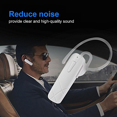 Bluetooth Earphone New Portable Wireless Bluetooth Earphone Stereo Headset Handsfree Earbuds (White)