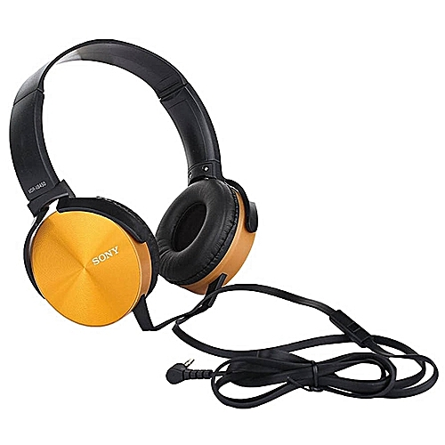 Sony wired headphone Extra Bass - Gold