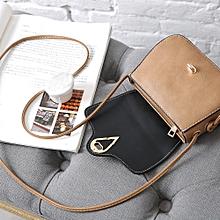 bluerdream-Womens Leather Purse Satchel Cross Body Shoulder Bag Messenger Bag -Khaki