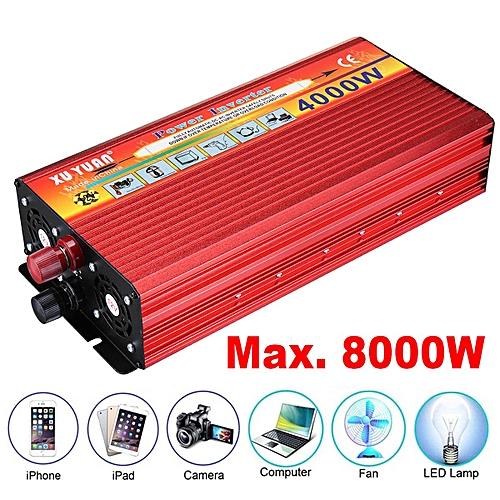 4000W DC 12V To AC 220V Power Inverter Charger Converter Car Laptop TV Red