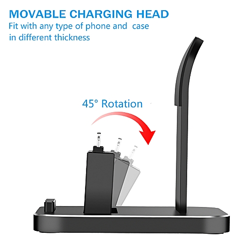 new style 83177 a65b1 Phone Tablet Stand with Micro USB Type C Lightning Port Charging Dock  Station Bracket Cradle Holder Charger For iPhone 9 X 8 7 Plus Samsung S9  Huawei ...
