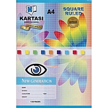 A4 Exercise Books - Lines and Squared -120 Pages- 12 Pcs