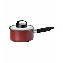 20918-T - Classique Covered Saucepan with Handle and Aluminium Lid - 20cm - Red