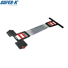 SUPER-K SCP0869 Chest Pull 5 Spring Expander Sports Exercise Feet Step Gym Fitness Equipment