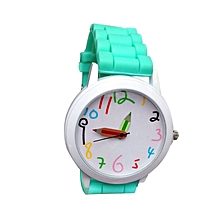 Fashion Quartz Unisex Boys And Girl's Beautiful Students All-Match Watch-Green