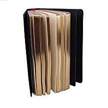 Classic Retro Notebook Journal Diary Sketchbook Leather Cover Thick Gold