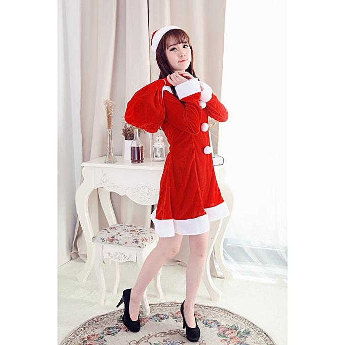 Xiuxingzi Women Sexy Santa Christmas Costume Fancy Dress Xmas Office Party  Outfit 0b69a99f551c