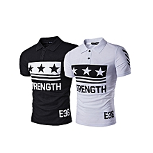 (2 pcs) Modern  Men's Comfort Soft Regular-Fit Quick-Dry Golf Short Sleeve Polo T-shirt Multicolor