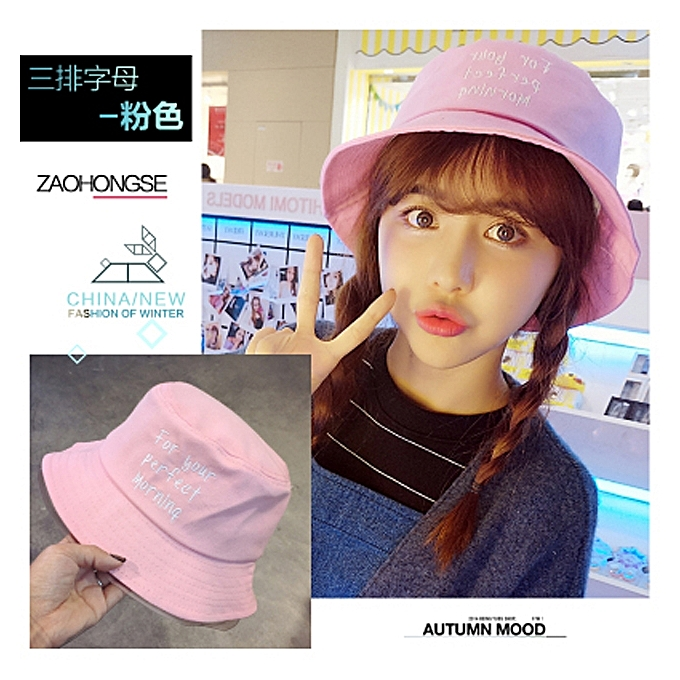 520c765f8 1Three set type a mother powder colorSummer of female of hat of fisherman  Han Ban Bai takes a student to hide in summer the sun hat is Japanese-style  ...