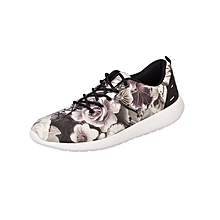 Casual Active Shoes - Grey and White Rose Flower