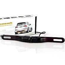 Car Licence Plate Wireless Rear View Camera - Black