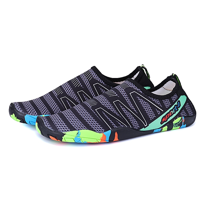 15cec0ec37d6 Men Water Shoes Outdoor Sports Beach Slip-On Pumps Swim Pool Barefoot Non- Slip ...