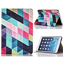 Colored Squares Flip Stand Leather Case Cover For IPad Mini 1 2 3 Retina