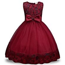 New Style Children Dress Lace Dress Girls Bow Dress Skirt