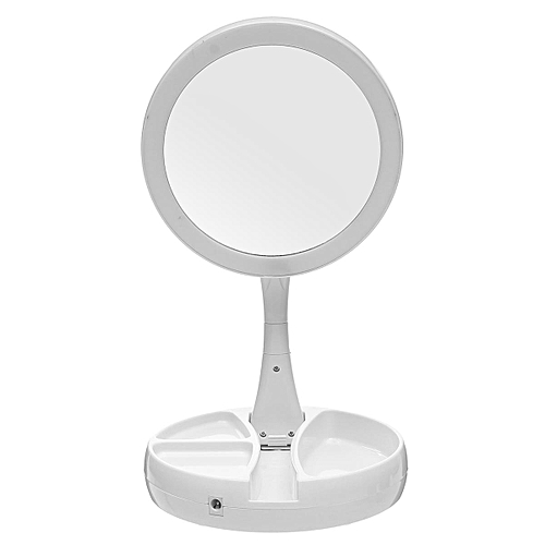 Double Sided Lighted Makeup Mirror 1x 10x Magnification Usb Travel Hot