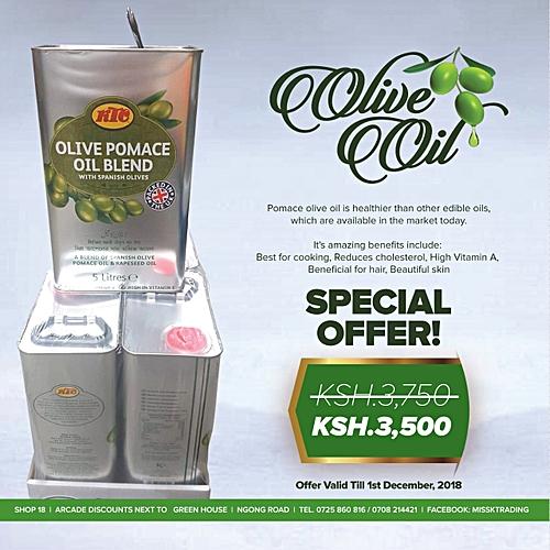 Pomace Olive Oil - 5 Liters