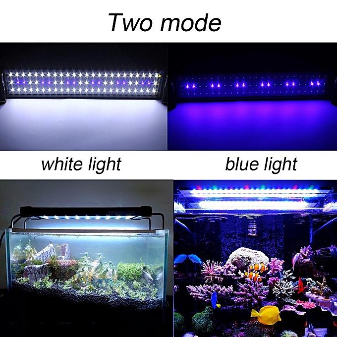 Aquarium Fish Tank Led Light Over Head Lamp Marineland Plants Moon Lighting 50x10x2cm