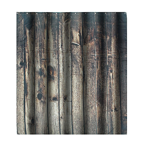 Fashion Vintage Wood Texture Waterproof Fabric Shower Curtain Bathroom Home Decor 180x180cm