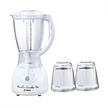3 in 1 Blender with Grating Machine - 350W - 2L - White