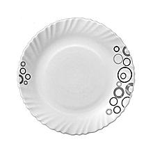 Misty Drop Glass Dinner Plates.
