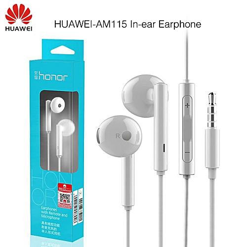 Huawei Honor AM115 Earphone With Mic For Xiaomi Huawei Universal phone Retail box High Bass quality Free Shipping