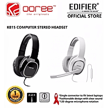 Edifier K815 HiFi Noise Canceling Gaming Headset with Boom Microphone SWI-MALL