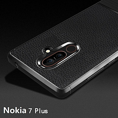 Buy Generic Soft Case For Nokia 7 Plus Luxury Litchi Pattern Soft Silicone Case Cover For Nokia 7 Plus Casing 230729 (Black) @ Best Price | Jumia Kenya