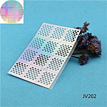 JV205 Dual Thin Hollow Decorative Nail Stickers Nail Jewelry