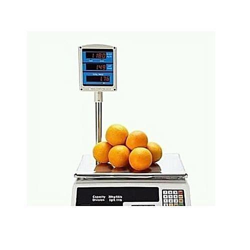 30KILOGRAMS Digital Scale Electronic Market Balance Weighing Machine Fruits  Vegetable Price Computing Shop