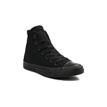Black High-Cut Canvas Rubber Shoes