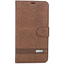 S6 - Leather Flip Cover - Brown