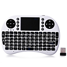 Rii Min I8 2.4 GHz Mini QWERTY Wireless Keyboard Touchpad Combo - White