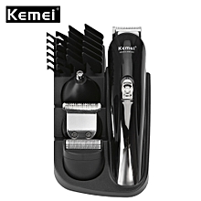 Rechargeable Hair Trimmer Haircut Set - Black