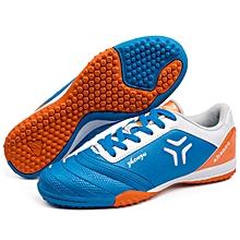 Zhenzu Outdoor Sporting Professional Training PU Football Shoes, EU Size: 43(Blue)