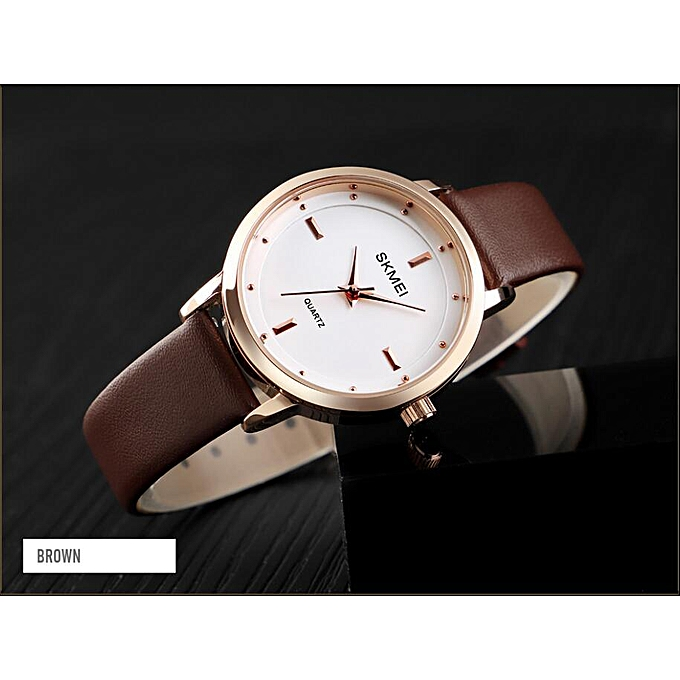 b6924bff52b5 SKMEI Brand High Quality Women Watches Luxury Leather Woman Watch Montre  Femme Fashion Quartz Wrist Watches