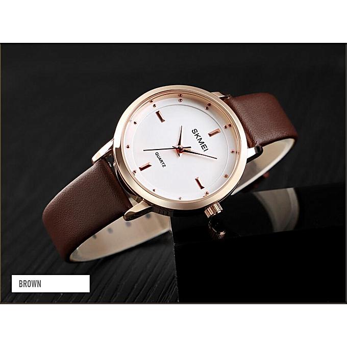 4bb4a40da59e3 SKMEI Brand High Quality Women Watches Luxury Leather Woman Watch Montre  Femme Fashion Quartz Wrist Watches