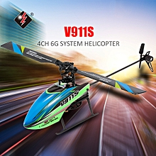 V911S 4CH 6G Non-aileron RC Helicopter with Gyroscope for Training Kids Toys w/ 2 Batteries