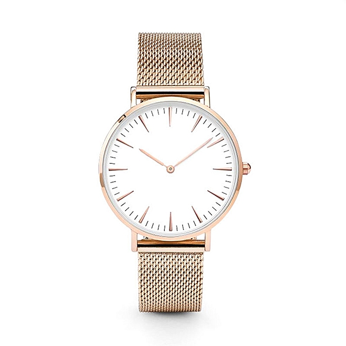 Luxury Women Men Stainless Steel Watch Analog Quartz Bracelet Wrist Watches New
