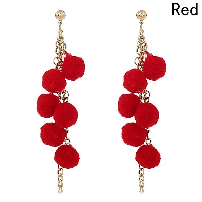 8 Colors Women S Por Furry Fluffy Ball Stud Earring Trendy Lovely Candy Color Earrings
